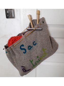 SAC à tricot fait main