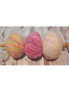 Baby alpaga et laine  teint à la main