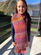 écharpe avec le métier à tricoter