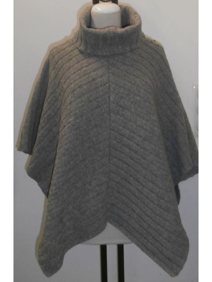 poncho col roule la filature laine. Black Bedroom Furniture Sets. Home Design Ideas